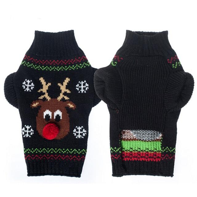 Aliexpress Buy Xmas Reindeer Design Pet Dog Sweater For Autumn