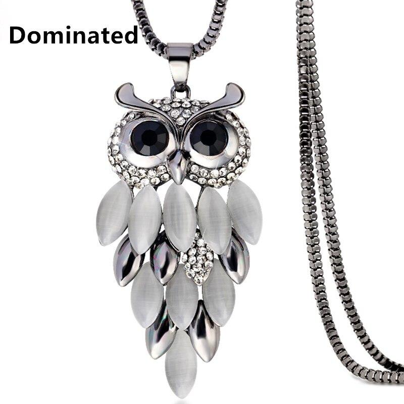 Доминируют Для женщин сова свитер цепи Цепочки и ожерелья подвеска Цепочки и ожерелья Оптовая Высококлассные женский