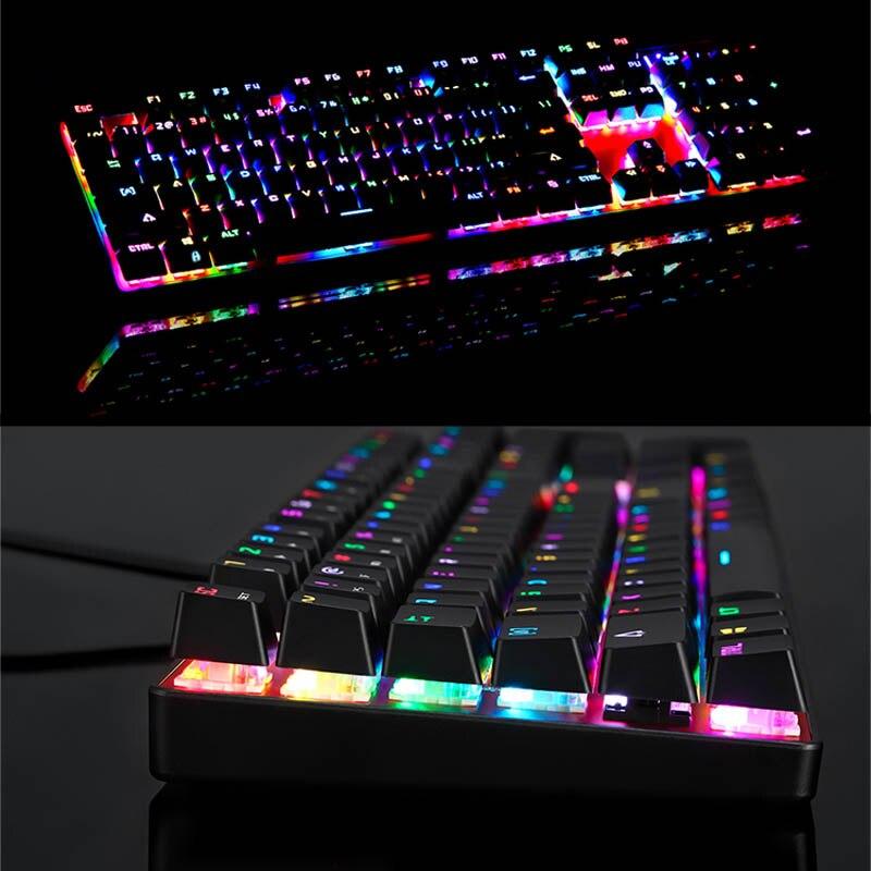 Clavier mécanique filaire USB 104 touches LED clavier de jeu rétro-éclairage rvb pour ordinateur ND998
