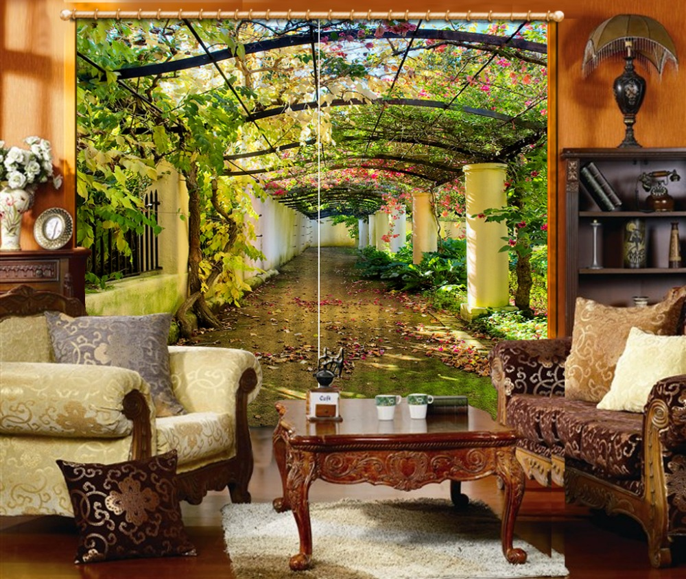 High Quality Curtain window room Curtains for living room 3d curtains Home Decoration in Curtains from Home Garden