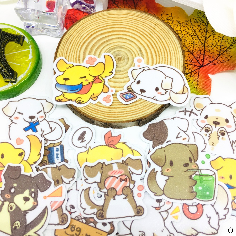 40 Pcs Anime Garden Dog Cartoon Sticker Waterproof For Book Laptop Moto Skateboard Luggage Guitar Furnitur Decal Toy Stickers