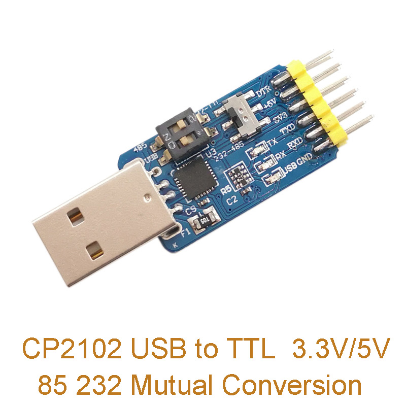 1PC CP2102 Six-in-one Multi-function Serial Port Module USB to TTL 3.3V/5V 485 232 Mutual Conversion image