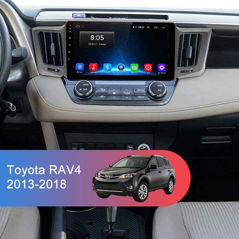 Junsun V1 2G + 32G أندرويد 9.0 DSP لتويوتا RAV4 2013-2018 راديو السيارة الوسائط المتعددة مشغل فيديو الملاحة لتحديد المواقع RDS 2 din dvd