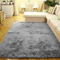 Super Soft Solid Carpet Floor Rug Living room carpet Area Rug Multiple Size (Grey)Bedroom Floor Bathroom Pets Home Hotel Mat Rug