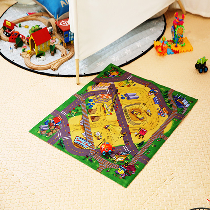 3d baby toy game mat with car crawling baby carpet for kids rug puzzle cartoon play