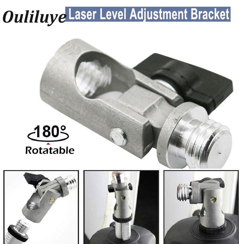 Werkzeuge Laser Level Meter Platte Stativ Kopf Kunststoff Adapter Zubehör Mit Arm Halterung # Aug.26 Optische Instrumente