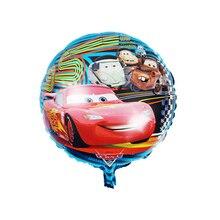 Cartoon Car Foil Helium Balloons Party Decor