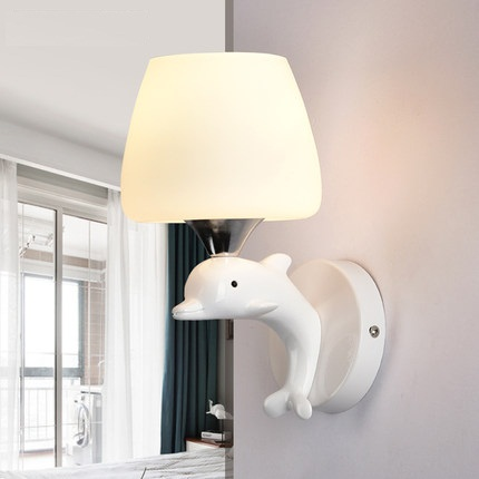 Simple Modern Wall Sconces Creative Resin Dolphin LED Wall Light Fixtures For Home Indoor Lighting Bedside Wall Lamp Lamparas цена