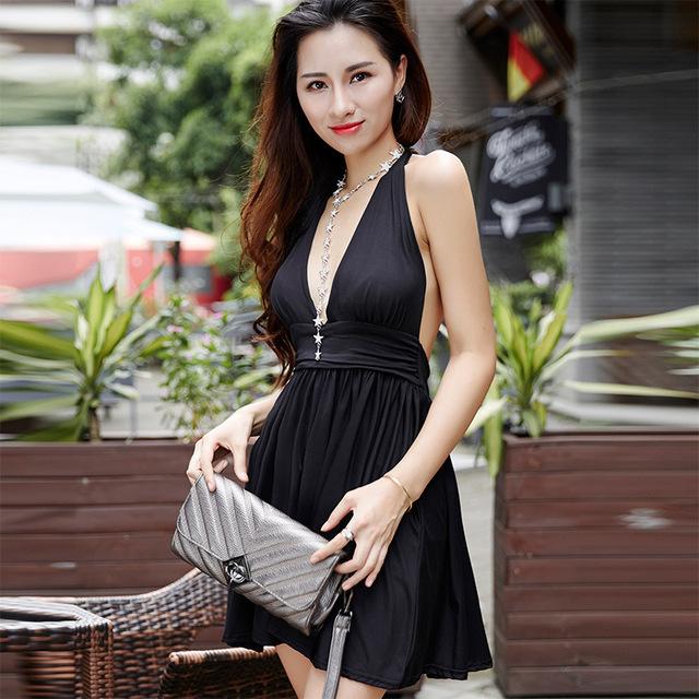 f936f862b Fleepmart fashion 2019 High waist dress Ladies plus size Sexy ...