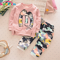 Keelorn 2017 Autumn Baby Girls and Boys Clothes set Cartoon Shirt+Camouflage pants Kids Clothes Fashion Children Clothing sets