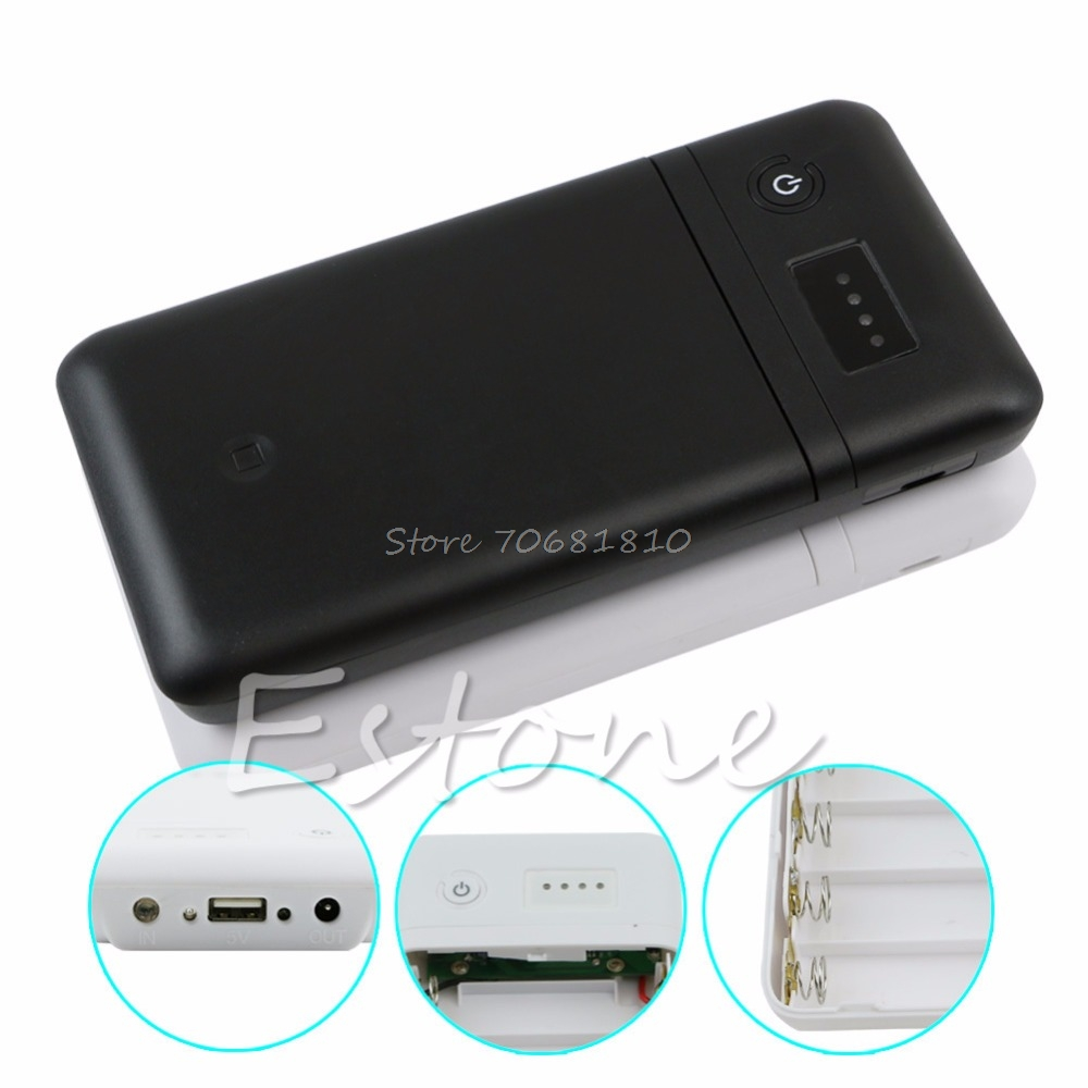 USB 6 x 18650 Battery Charger Box Adjust 5V 2A 9V 12V Mobile Power Bank Drop Shipping universal convenient 5v usb adapter power bank w torch light indicator white 2 x 18650