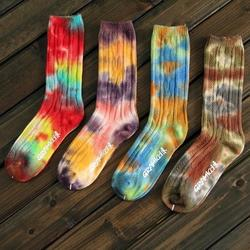 Много высокого качества для мужчин Носки, горячая распродажа! Gramicci человек Носки, тип моды tie-dye Носки, ретро Национальный коттоновые носки