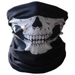 Велосипедный спорт Лыжный Маска-череп на половину лица маска призрак теплый шарф на шею Multi применение зима теплый открытый уход за кожей