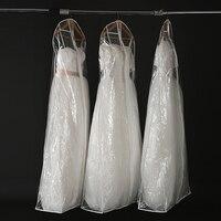 180 سنتيمتر طويلة أكياس الغبار غطاء شفاف pvc فستان الزفاف فساتين الزفاف ثوب الزفاف الملابس أكياس تخزين أكياس كبيرة للماء