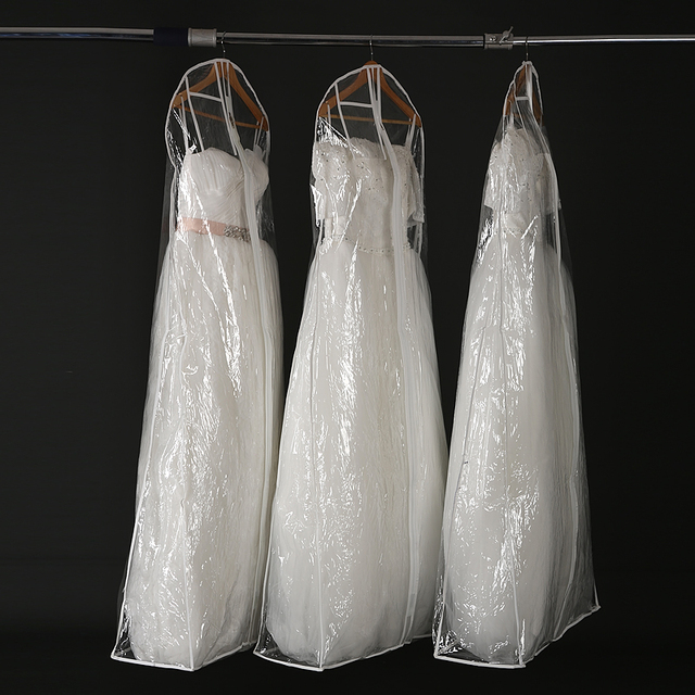 180 Cm Long Transparent PVC Wedding Dress Bags Dust Cover Storage ...