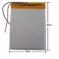 Tablet pc 3.7 V 4500 mAH (baterias Recarregáveis de iões de lítio polímero) para 7 polegada polegada polegada 357090 367596 M74CG 9 8 supra tablet pc