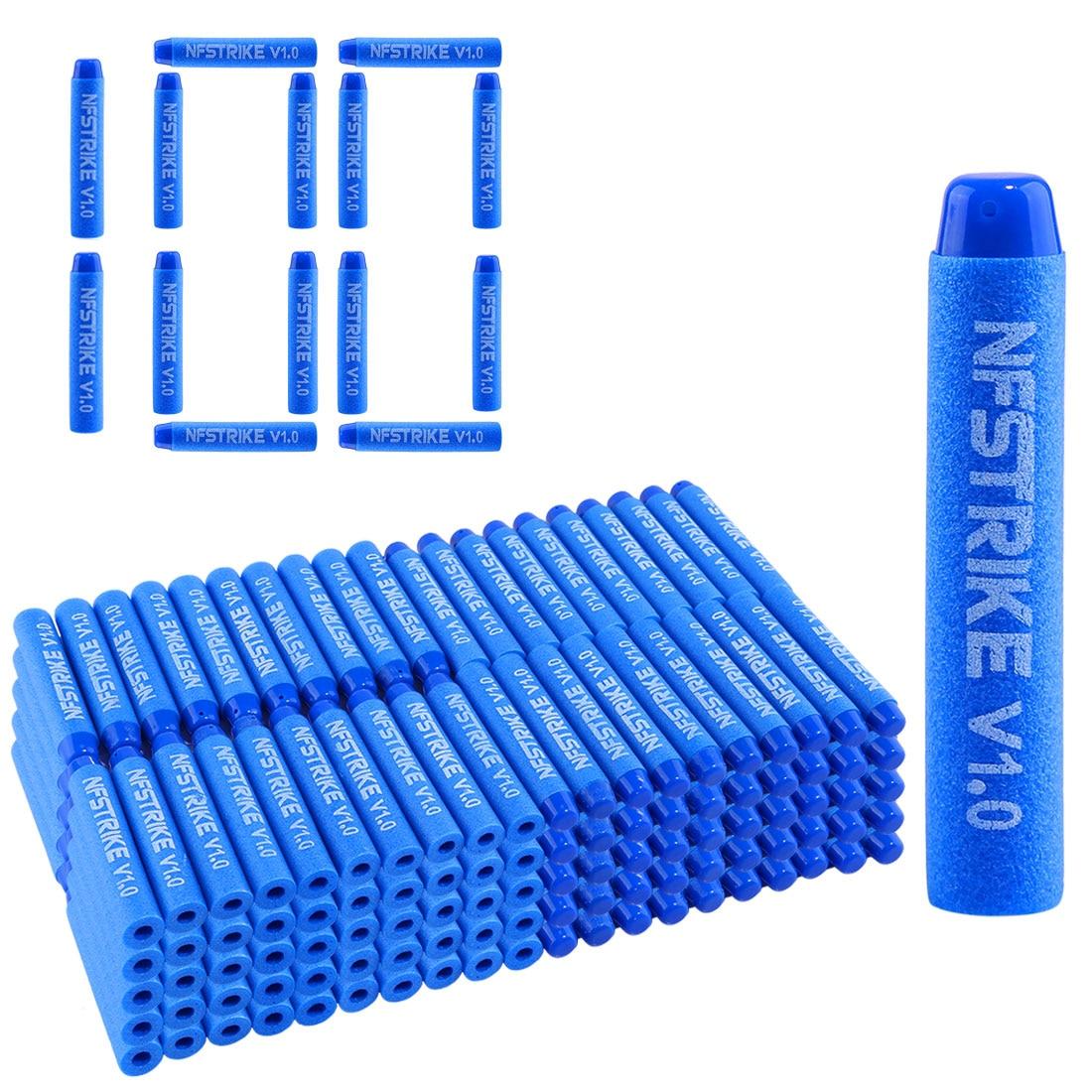 NFstrike 100pcs V1.0 Customized Soft Bullet For Nerf  Elite Series Part 7.2*1.3CM