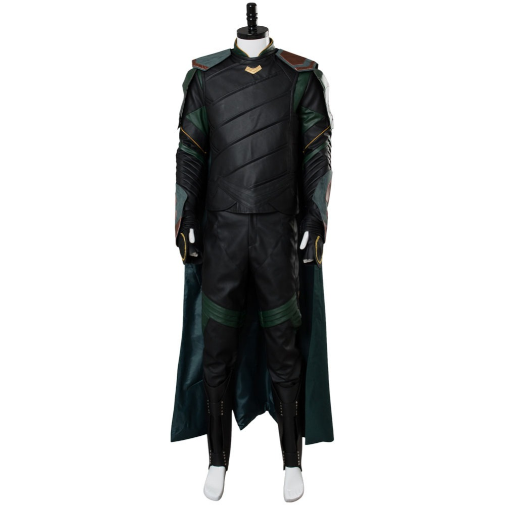 Hot Film Thor 3 Loki Ragnarok Cosplay Costume Outfit Adulte hommes Loki Costume Complet Ensembles Faits Sur Commande Toute Taille Halloween carnaval