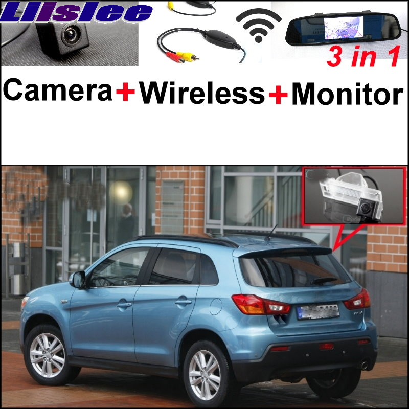 Liislee Wireless Receiver + Mirror Monitor Easy Parking System Special Camera For Mitsubishi ASX RVR Outlander Sport 2010~2017 new restaurant equipment wireless buzzer calling system 25pcs table bell with 4 waiter pager receiver