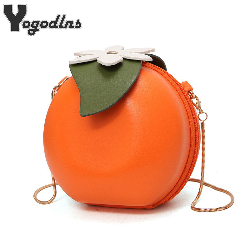 Women Crossbody Bags Famous Red Circular Orange Fruite Bag Fashion Female Messenger Bags Leaves Mini Bags for Teenager GirlsWomen Crossbody Bags Famous Red Circular Orange Fruite Bag Fashion Female Messenger Bags Leaves Mini Bags for Teenager Girls
