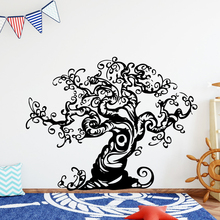 Diy Tree Decorative Sticker Waterproof Home Decor Nursery Kids Room Wall Decor Background Wall Art Decal цена и фото