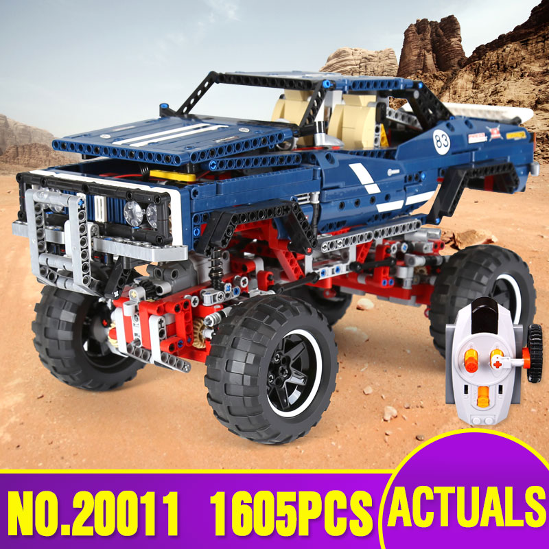 DHL 20011 technic remote control electric off road vehicles building block toys compatible with 41999 Kids