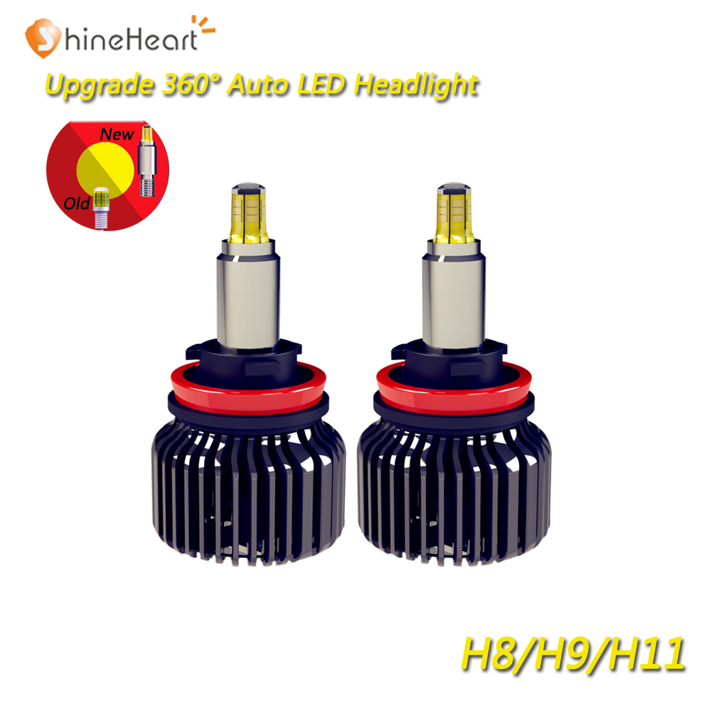 High power all in one IP68 12V 24V 2PCS <font><b>90W</b></font> 9000LM 3D <font><b>LED</b></font> <font><b>chip</b></font> 360 degree H8 H9 H11 <font><b>led</b></font> fog light bulbs for cars with turbo fan image
