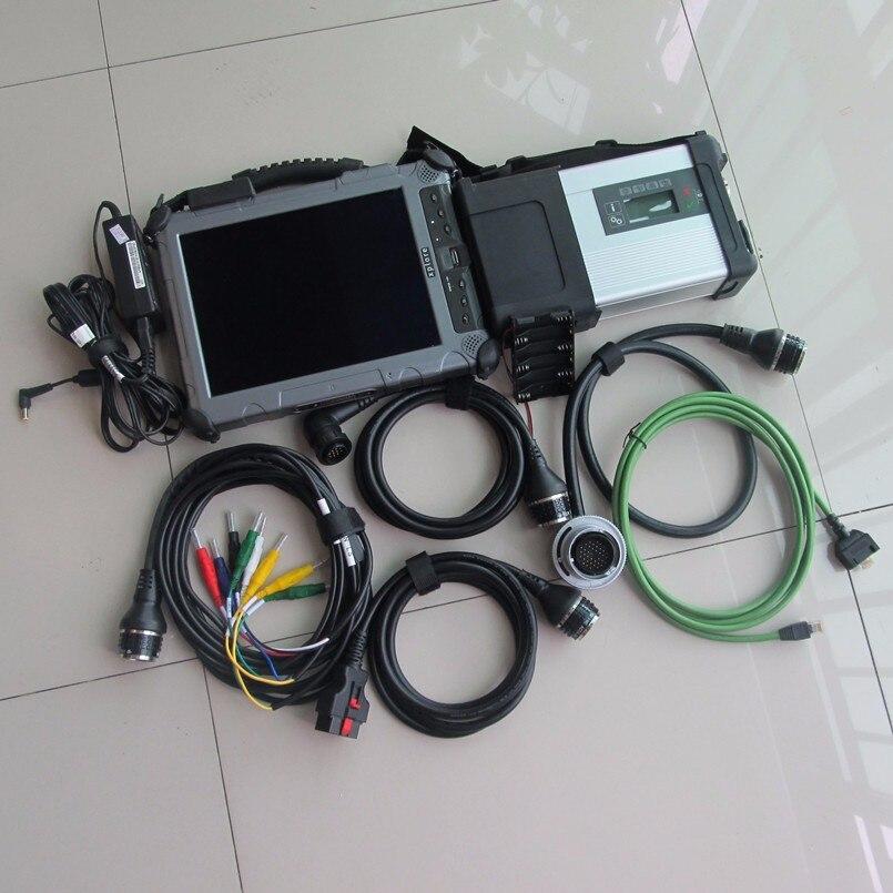 Super stella di mb c5 diagnosticare con il computer portatile ix104 c5 i7 4g mini ssd super 2018.12 il software più recente versione pronto per utilizzare 2 anni di garanzia