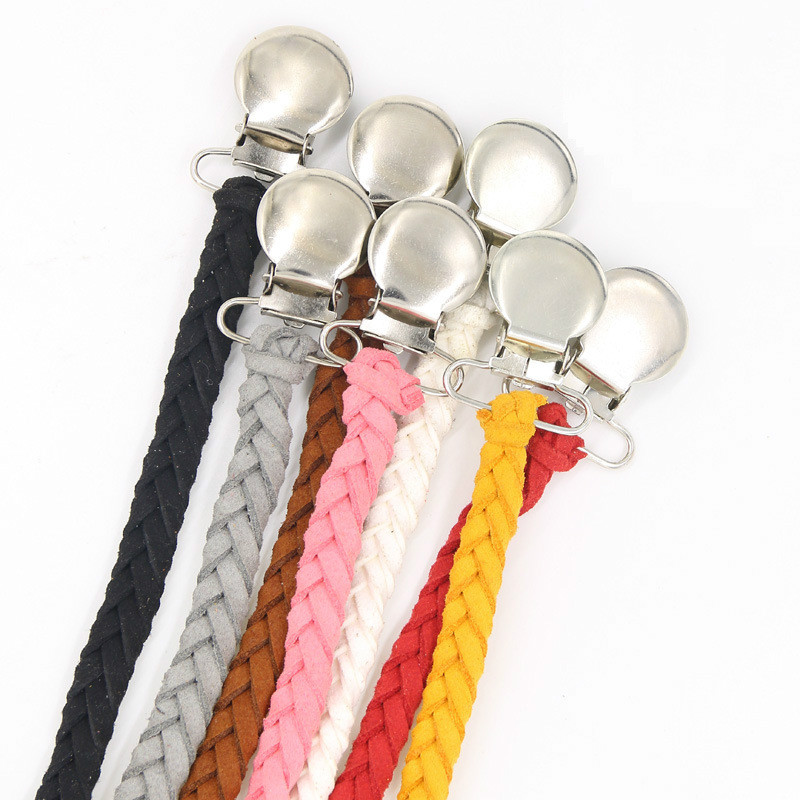 Baby Pacifier Chain Pacifier Clips Rope Anti-chain Anti-off Rope Maternal And Infant Supplies Foreign Trade Explosive Leather