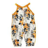 Moonlight Baby Girl Romper Sunsuit 2017 Summer Flower Suspender Newborn One Pieces Rompers Cute Floral Kids Infant Girls Clothes