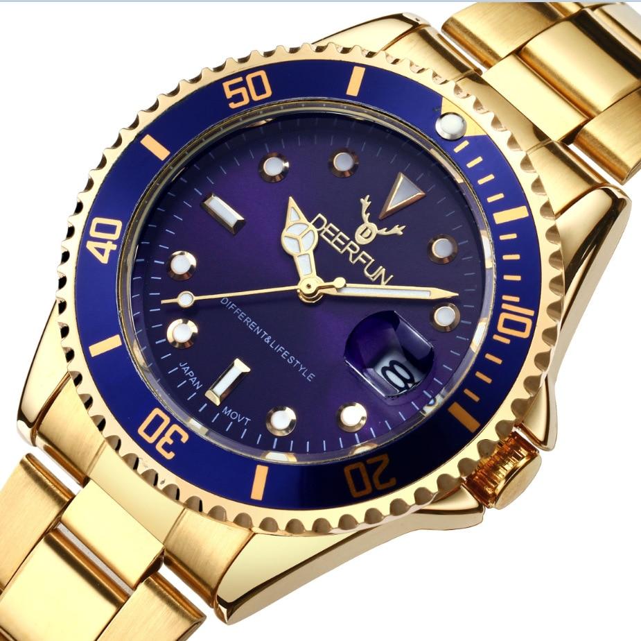 New Top Luxury brand Watch Men Women Gold Watches Stainless Steel Sports Quartz WristWatch zegarki meskie Clock reloj relogio in Quartz Watches from Watches