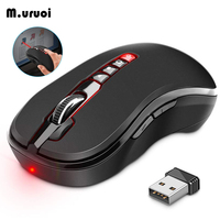 M.uruoi Wireless Mouse 1200DPI Adjustable Computer Mouse With Presentation Remote Control Laser Pointer Mice For Laptop PC etc