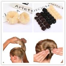 Булочка для волос, Пончик, волшебный Поролоновый спонж, легкое большое кольцо, инструменты для укладки волос, продукты, прическа, аксессуары для волос для девочек, женщин, леди