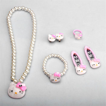 Children Hair Accessories Set Hello Kitty Jewelry set 3