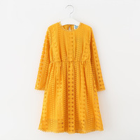 Teenage Girls Lace Long Sleeve Dresses Children Clothing Kids Autumn Dress Vestido Menina
