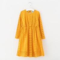 Teenage Girls Lace Long Sleeve Dresses Children Clothing Kids Autumn Dress Vestido Menina