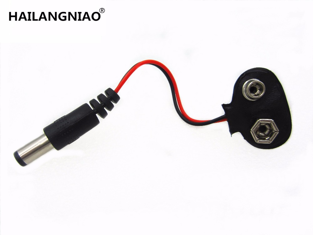 50pcs/lot 90 DC 9V Battery Button Power Plug For Mega 2560 1280 UNO R3 132 9V Battery Buckle