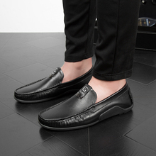 лучшая цена 2018  Brand New four Season Men Fashion Shoes Slip On Flat Shoes Men Casual Shoes Comfortable  Leather Men Loafers   5