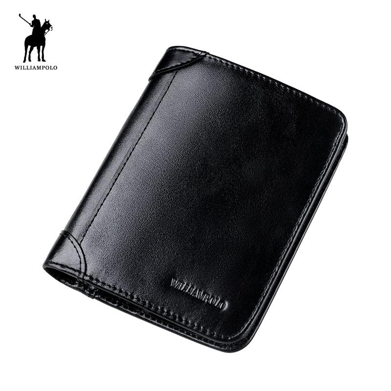 WILLIAMPOLO mode cuir 6 porte-carte SIM porte-carte dossier court voyage portefeuille PL198