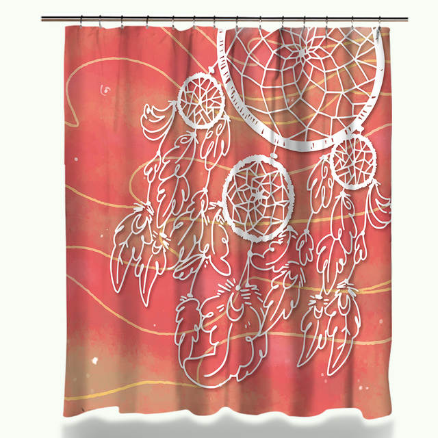 Online Shop Miracille Colorful Dream Catcher Shower Curtain With Waterproof Polyester Fabric And 40x60cm Bath Floor Mat For The Bathroom