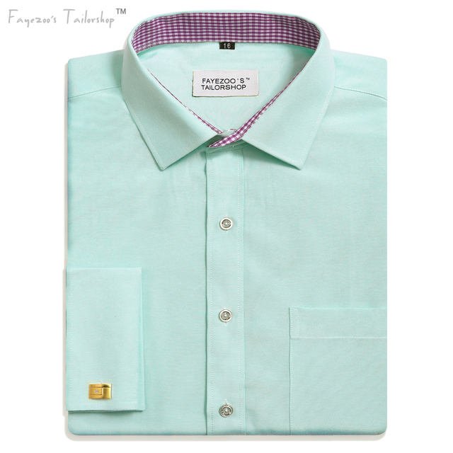 389bfcb4d30b Men's Non-Iron Milano Fit Mint Green French Cuff Formal Business Dress Shirt  USA /