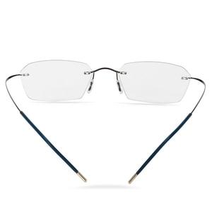 Image 4 - Occhiali senza montatura In Titanio Telaio Fotocromatiche Miopia occhiali Delle Donne Degli Uomini Chameleon Occhiali Lente con Diottrie 1.0 1.5 2.0 2.5 3.0