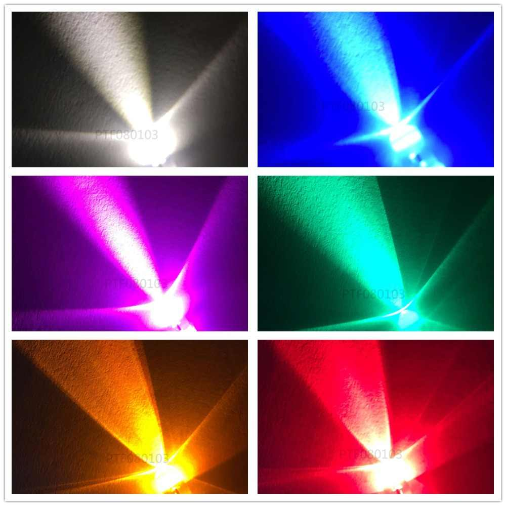 10-20-50-100pcs 3mm/5mm 레드/그린/블루/rgb 3 v 5 v 12 v dc 라운드 pre-wired 물 클리어 led