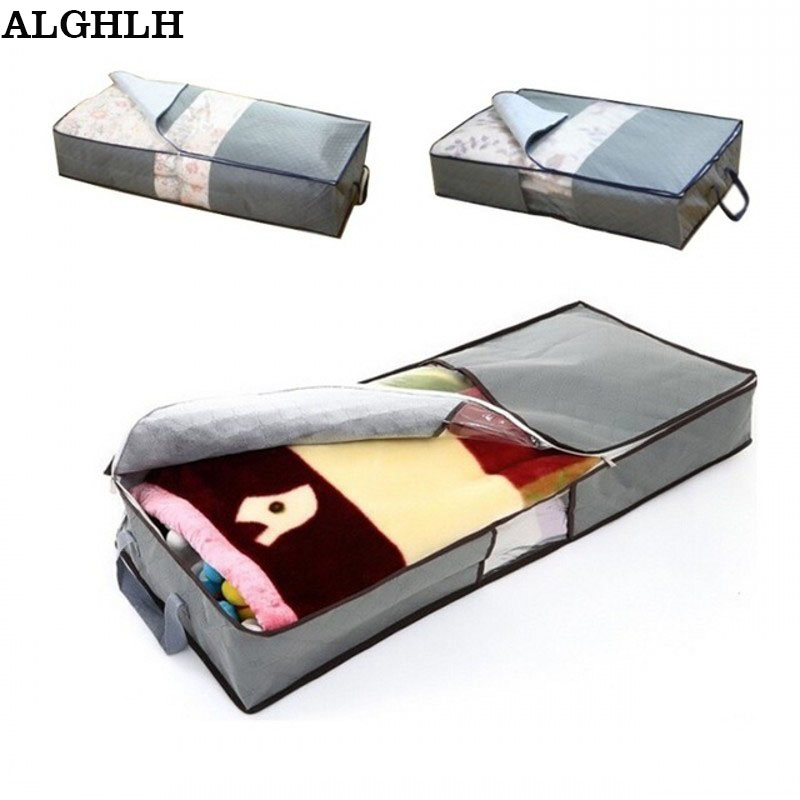 70L Non-Woven Family Save Space Organizador Bed Under Closet Storage Box Clothes Divider Organiser Quilt Bag Holder Organizer