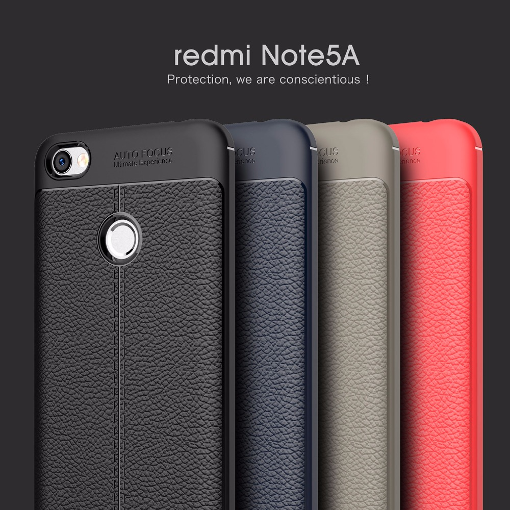 """Luxury Imitation leather Soft Silicon case For Xiaomi Redmi Note 5A prime Back Cover Capa For Redmi Note 5A Pro phone cases 5.5"""""""