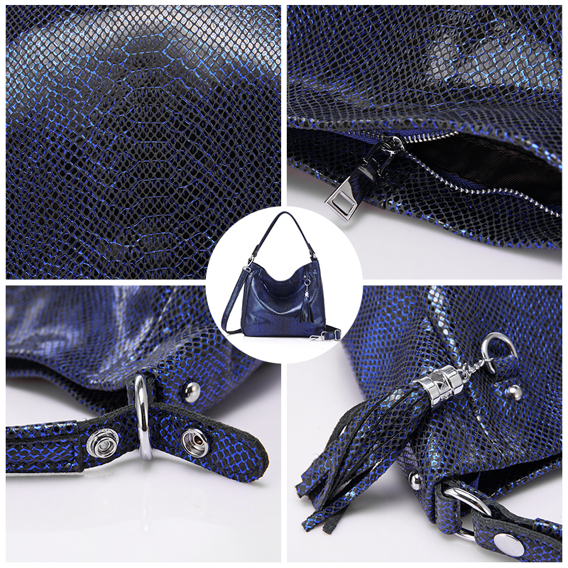 REALER women handbags genuine leather messenger bags female shoulder crossbody bag ladies big totes top handle bag high quality-in Top-Handle Bags from Luggage & Bags    3