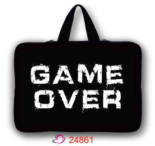 Game Over 10 10.6 11.6 12 13 13.3 14 15 15.6 17.3 Laptop Sleeve Computer Case Notebook Bag Pouch For Acer HP DELL Asus