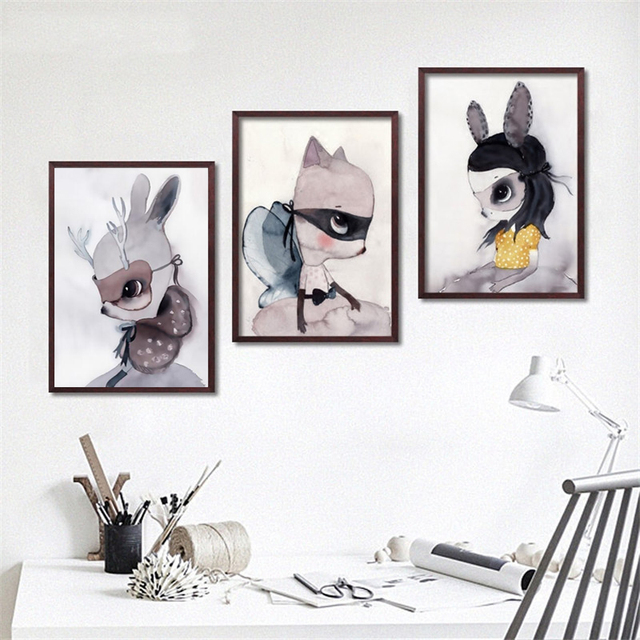 Cartoon Mädchen Jungen Kinderzimmer Kinderzimmer Wand dekor ...