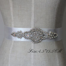 Free Shipping Crystal Rhinestone Dress Accessories Wedding Belts and Sashes Bridal Headpieces