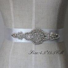 Freies Verschiffen Kristall Strass Kleid Zubehör Hochzeit Gürtel und Schärpen Brautkopfschmuck